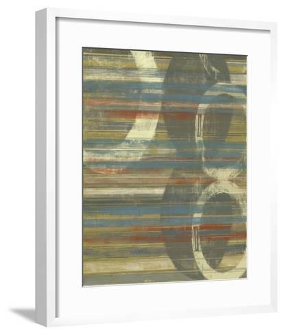 Textured Orbs I-Jennifer Goldberger-Framed Art Print