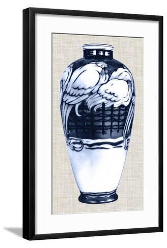 Blue & White Vase VI-Unknown-Framed Art Print