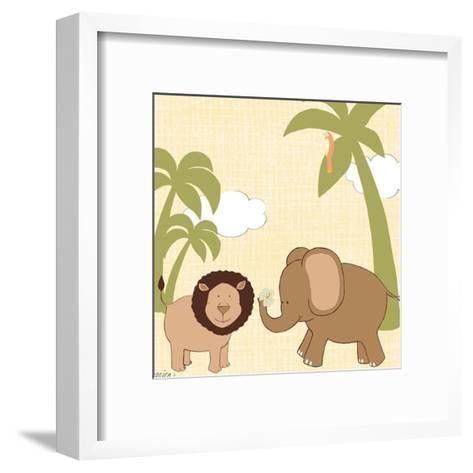 Baby Jungle IV-June Erica Vess-Framed Art Print
