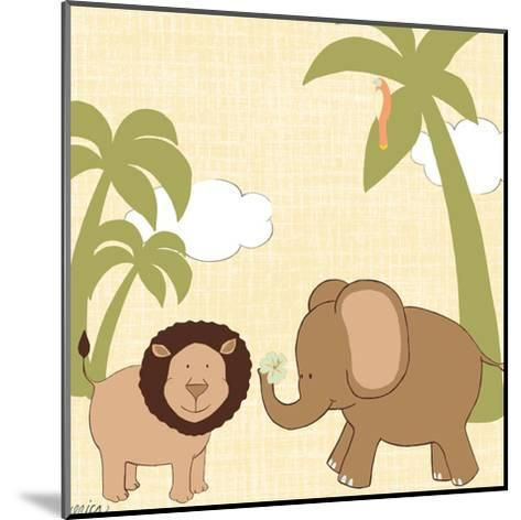 Baby Jungle IV-June Erica Vess-Mounted Art Print