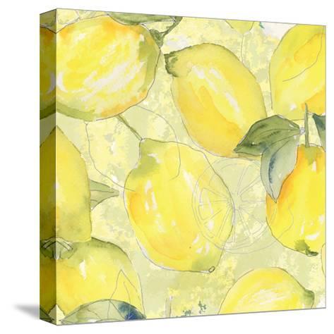 Lemon Medley II-Leslie Mark-Stretched Canvas Print