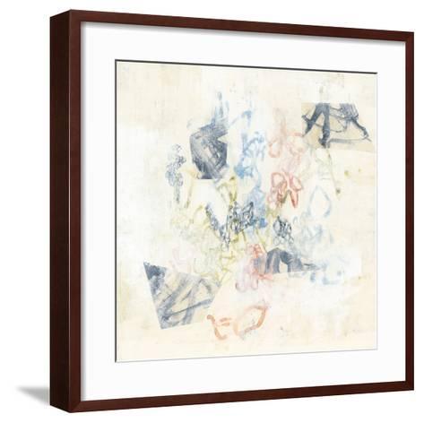 Pastel Scribble I-Jennifer Goldberger-Framed Art Print