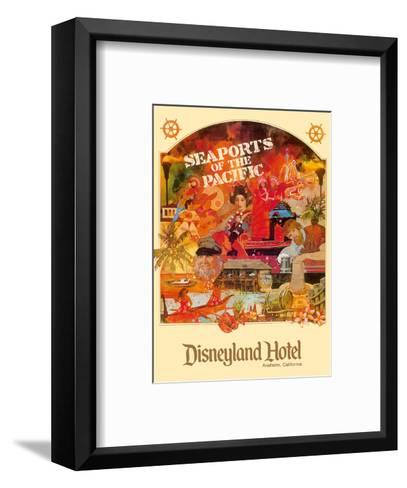 Seaports of the Pacific - Disneyland Hotel - Anaheim, California-Lotts-Framed Art Print