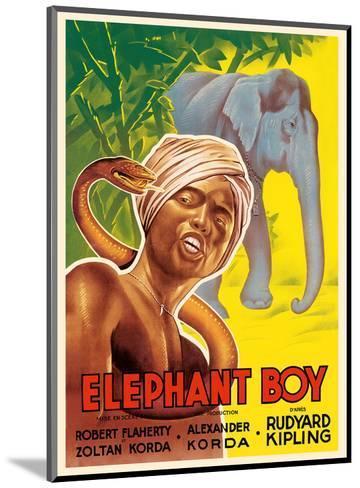 Elephant Boy by Rudyard Kipling - Starring Robert Flaherty-Pacifica Island Art-Mounted Art Print