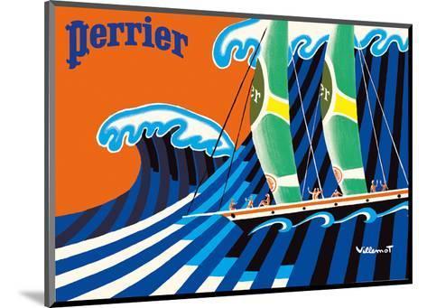 Perrier - The Sailboat - Hokusai The Great Wave-Bernard Villemot-Mounted Art Print