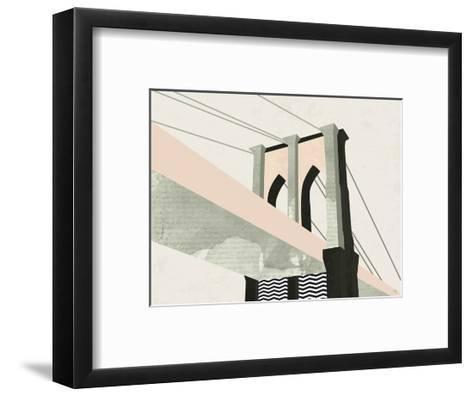 Brooklyn Bridge-Michelle Collins-Framed Art Print