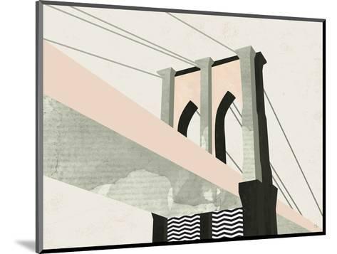 Brooklyn Bridge-Michelle Collins-Mounted Art Print