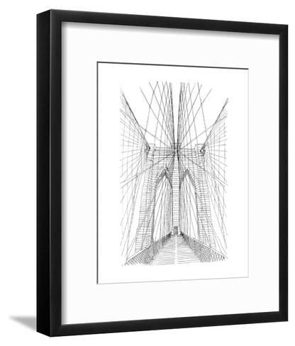 BK Bridge-Brooklyn Industries-Framed Art Print