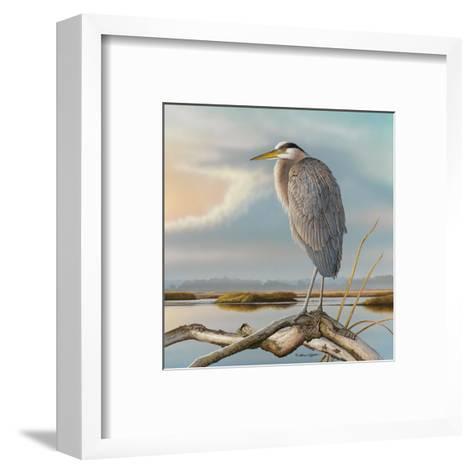 Marsh Watch - Great Blue Heron-Richard Clifton-Framed Art Print