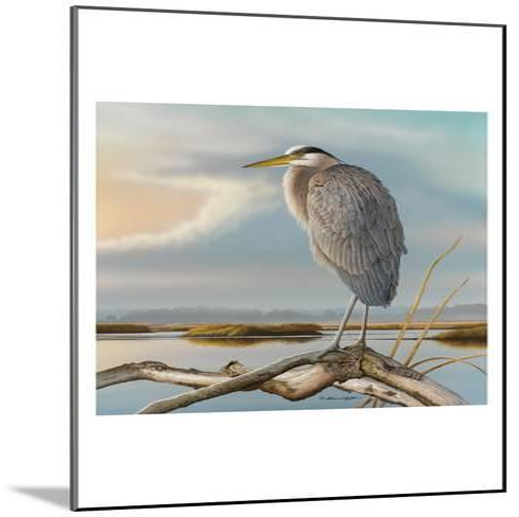 Marsh Watch - Great Blue Heron-Richard Clifton-Mounted Art Print