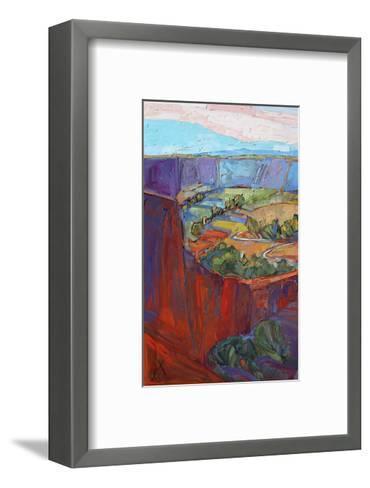 Patterns in Triptych (left)-Erin Hanson-Framed Art Print