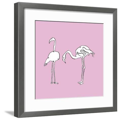 Flamingo Duo-Sandra Jacobs-Framed Art Print