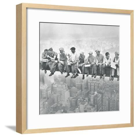 Lunch Atop A Skyscraper - Detail-The Chelsea Collection-Framed Art Print