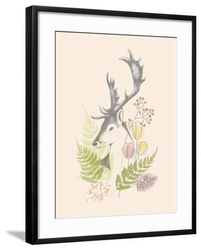 Forest Deer-Laure Girardin Vissian-Framed Art Print