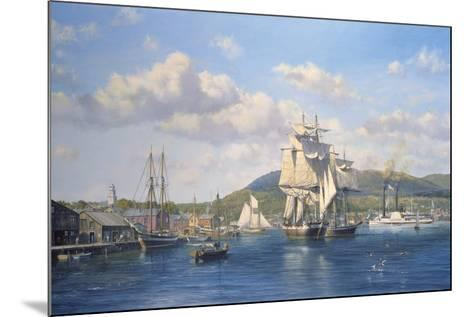 'Aurelia' at Camden, Maine-Roy Cross-Mounted Giclee Print