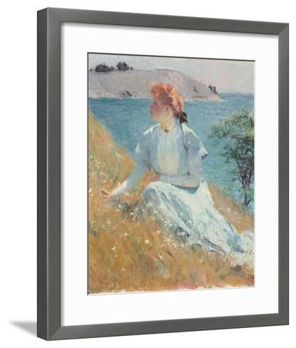 Margaret Gretchen Strong, c.1909-Frank Weston Benson-Framed Art Print