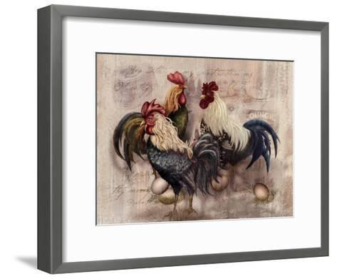 Rooster Trio-Alma Lee-Framed Art Print