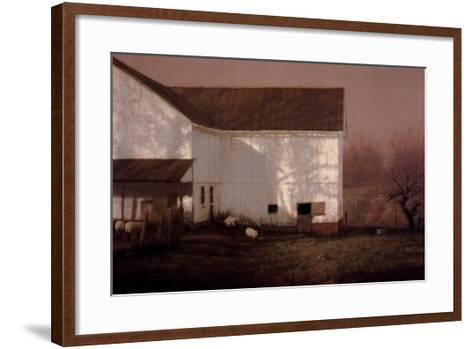 Tree Shadows-Raymond Knaub-Framed Art Print