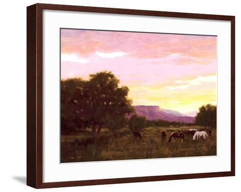 Grazing Below The Mesa-Roger Williams-Framed Art Print