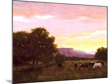 Grazing Below The Mesa-Roger Williams-Mounted Art Print