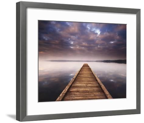Lake Walk III-Jonathan Critchley-Framed Art Print