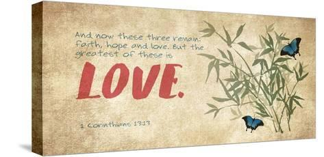 1 Corinthians 13:13 Faith, Hope and Love (Butterflies)-Inspire Me-Stretched Canvas Print