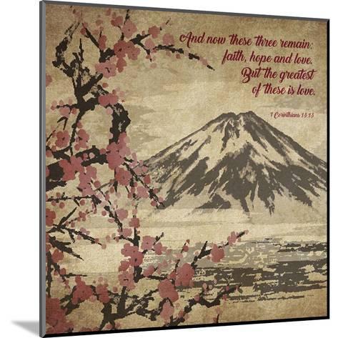 1 Corinthians 13:13 Faith, Hope and Love (Japanese)-Inspire Me-Mounted Art Print