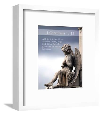 1 Corinthians 13:13 Faith, Hope and Love (Statue)-Inspire Me-Framed Art Print