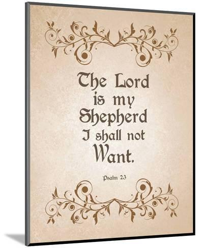 Psalm 23 The Lord is My Shepherd - Brown-Inspire Me-Mounted Art Print
