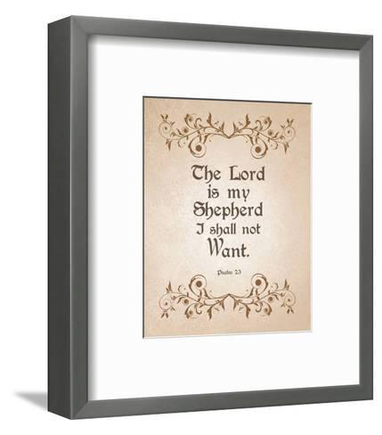 Psalm 23 The Lord is My Shepherd - Brown-Inspire Me-Framed Art Print