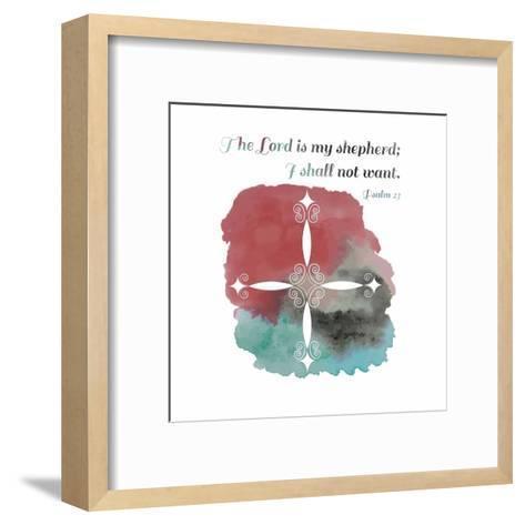 Psalm 23 The Lord is My Shepherd - Cross 2-Inspire Me-Framed Art Print