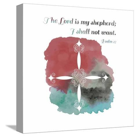 Psalm 23 The Lord is My Shepherd - Cross 2-Inspire Me-Stretched Canvas Print