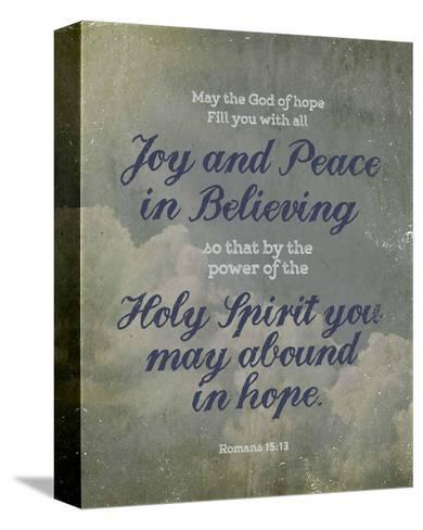 Romans 15:13 Abound in Hope (Clouds)-Inspire Me-Stretched Canvas Print