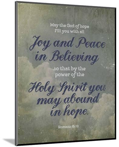 Romans 15:13 Abound in Hope (Clouds)-Inspire Me-Mounted Art Print