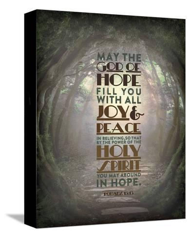 Romans 15:13 Abound in Hope (Forest)-Inspire Me-Stretched Canvas Print