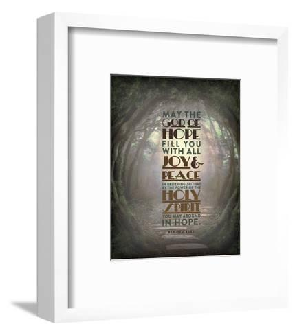 Romans 15:13 Abound in Hope (Forest)-Inspire Me-Framed Art Print