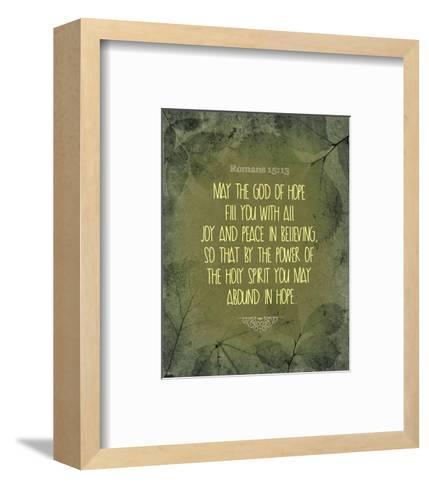 Romans 15:13 Abound in Hope (Green)-Inspire Me-Framed Art Print