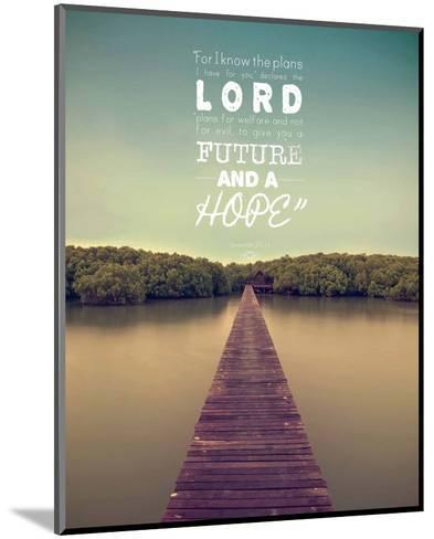 Jeremiah 29:11 For I know the Plans I have for You (Lake House Color)-Inspire Me-Mounted Art Print