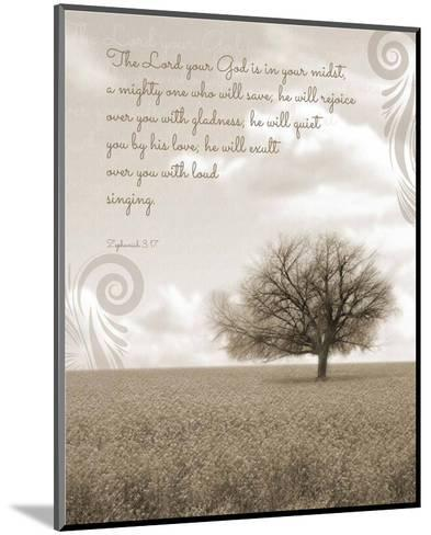 Zephaniah 3:17 The Lord Your God (Grey Landscape)-Inspire Me-Mounted Art Print