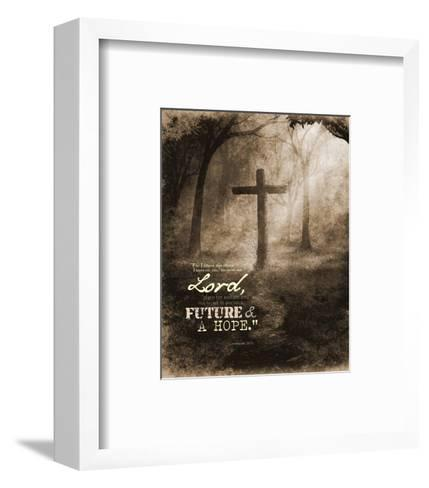 Jeremiah 29:11 For I know the Plans I have for You (Sepia Cross)-Inspire Me-Framed Art Print