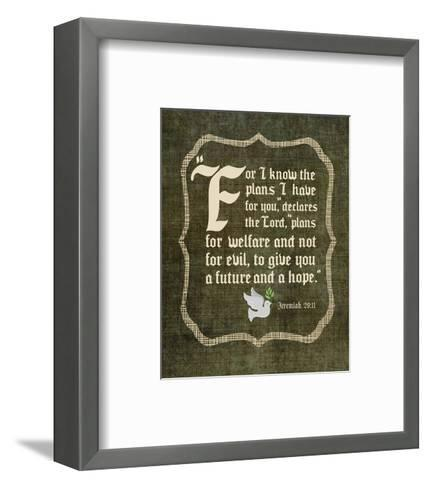 Jeremiah 29:11 For I know the Plans I have for You (White Dove)-Inspire Me-Framed Art Print