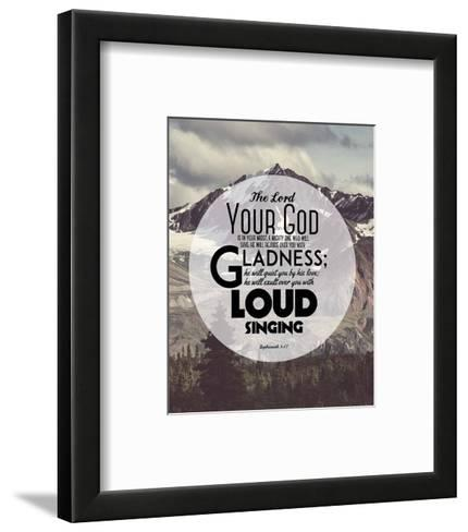 Zephaniah 3:17 The Lord Your God (Mountains 2)-Inspire Me-Framed Art Print