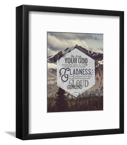 Zephaniah 3:17 The Lord Your God (Mountains)-Inspire Me-Framed Art Print
