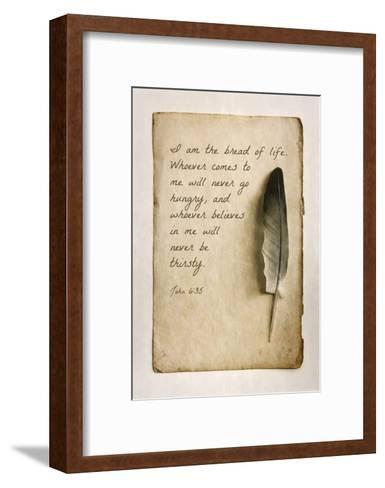 John 6:35 I am the Bread of Life (Sepia)-Inspire Me-Framed Art Print