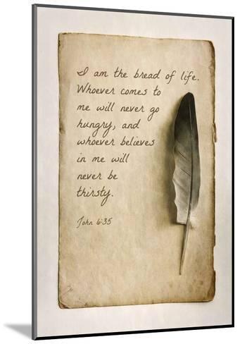 John 6:35 I am the Bread of Life (Sepia)-Inspire Me-Mounted Art Print
