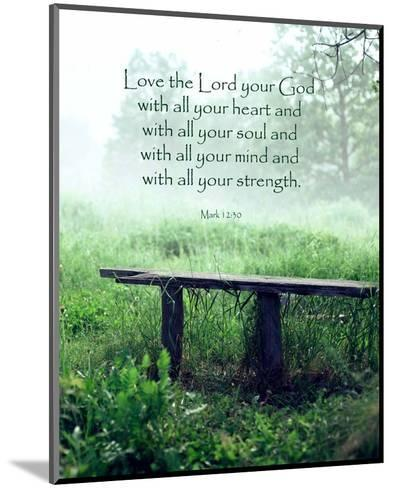 Mark 12:30 Love the Lord Your God (Bench)-Inspire Me-Mounted Art Print