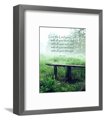 Mark 12:30 Love the Lord Your God (Bench)-Inspire Me-Framed Art Print