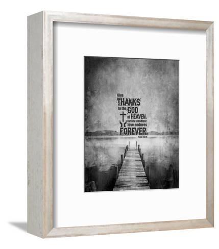 Psalm 136:26, Give Thanks (B&W Photo)-Inspire Me-Framed Art Print