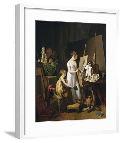 A Painter's Studio, c.1800-Louis Leopold Boilly-Framed Art Print