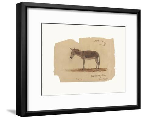 A Donkey, Barranquilla, Colombia-Frederic Edwin Church-Framed Art Print